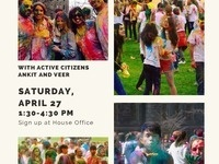 Bethe House 04.27.19 - Holi on the Arts Quad with AC's Ankit and Veer