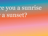 Chet Moye Lubarsky: Are You a Sunset or a Sunrise? Or, Conciliatory Gestures