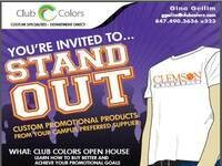 Club Colors Promotional Items Open House