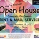 Print Center Open House Invitation