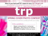 The Research Paper's Spring Cover Photo Contest