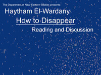 How to Disappear: Reading and Conversation