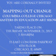 """Mapping Out Change: Columbia College Chicago Masters in Education Art Show"""
