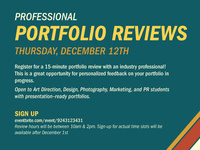 Professional Portfolio Reviews